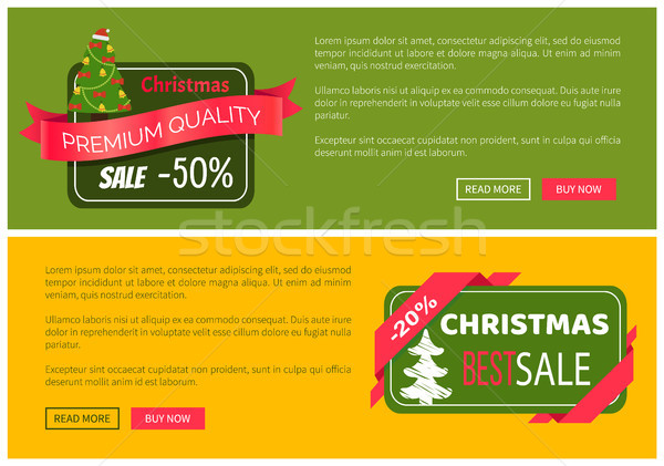 Stock photo: Premium Quality Hot Price Christmas Sale Card