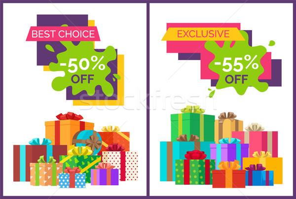 Legjobb választás fél ár el árengedmény fehér Stock fotó © robuart