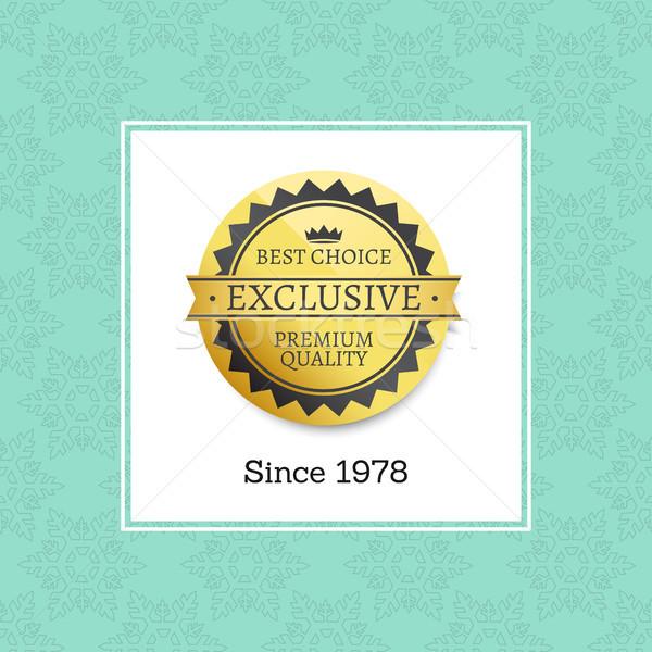 Ekskluzywny premia jakości etykiety złoty Zdjęcia stock © robuart