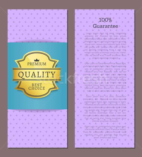 Guarantee Premium Best Choice Exclusive Quality Stock photo © robuart