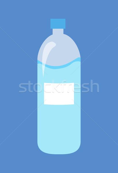 Plastic Bottle of Water Isolated Illustration Stock photo © robuart