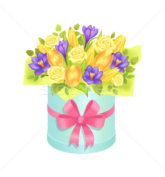 Big Cute Bunch with Varied Flowers Colorful Poster Stock photo © robuart