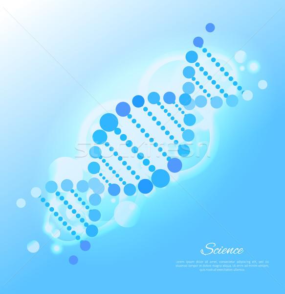 Dna poster Blauw kleur gedetailleerd afbeelding Stockfoto © robuart