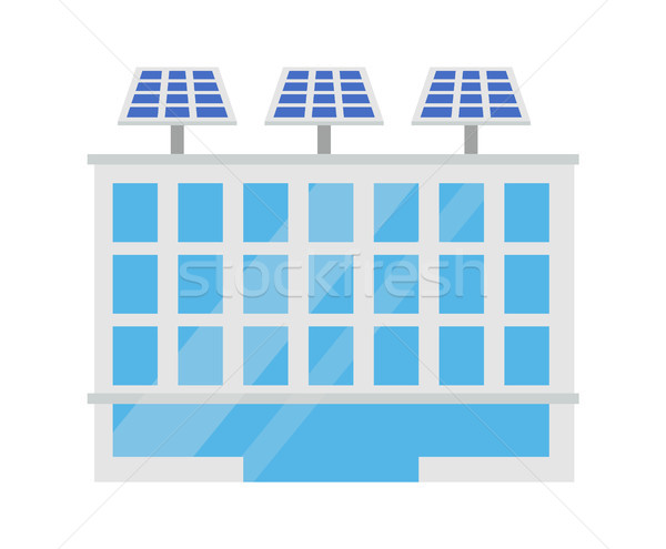 Modern City Building Isolated on Bright Backdrop Stock photo © robuart