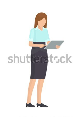 üzlet hölgy szürke szerkentyű színes poszter Stock fotó © robuart