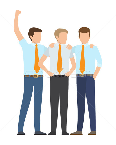 Office Employees in Formal Suits Works as Team Stock photo © robuart