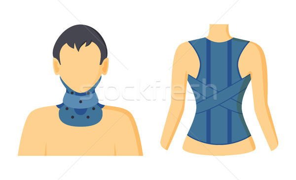 Orthopedic Bandages Collection Vector Illustration Stock photo © robuart
