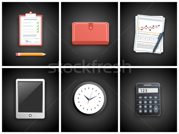 Business work elements Stock photo © robuart