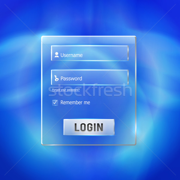 Login and register web glossy form Stock photo © robuart