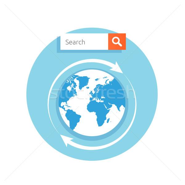 поиск адрес Бар мира икона увеличить Сток-фото © robuart