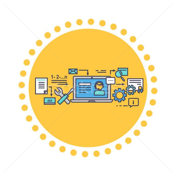 Ikon stílus terv online konzultáció üzlet Stock fotó © robuart