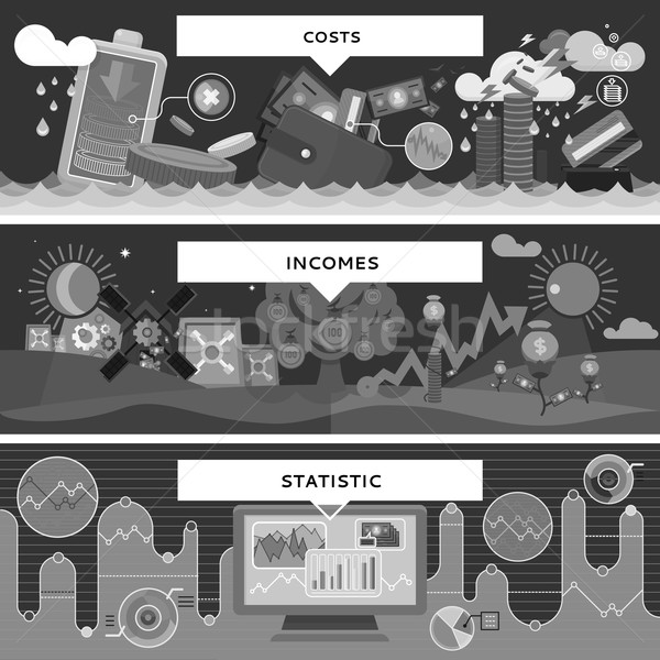 Finance Statistic Costs and Incomes Stock photo © robuart