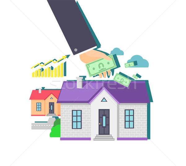 Gayrimenkul ikon dizayn ev Bina yatırım Stok fotoğraf © robuart