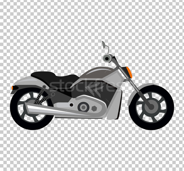 Cool Motorcycle Isolated on White Background Stock photo © robuart