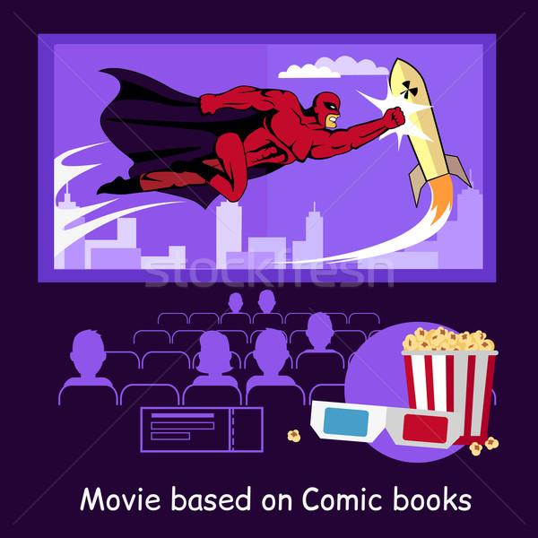 Movie Based on Comic Books Banner Stock photo © robuart