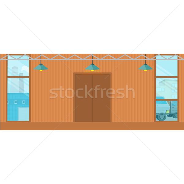 Clădirilor proiect depozit gol spatios Imagine de stoc © robuart