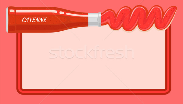Red Cayenne Sauce Poured out from Lying Bottle Stock photo © robuart
