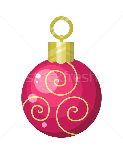 Christmas Tree Toy Flat Style Vector Illustration  Stock photo © robuart
