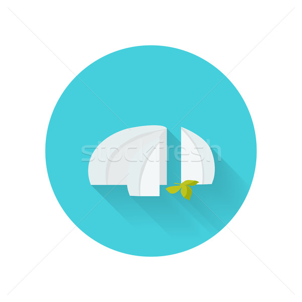 Feta Cheese Vector Illustration in Flat Design Stock photo © robuart