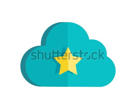 Cloud Storage Web Button Isolated. Ready Sign. Stock photo © robuart