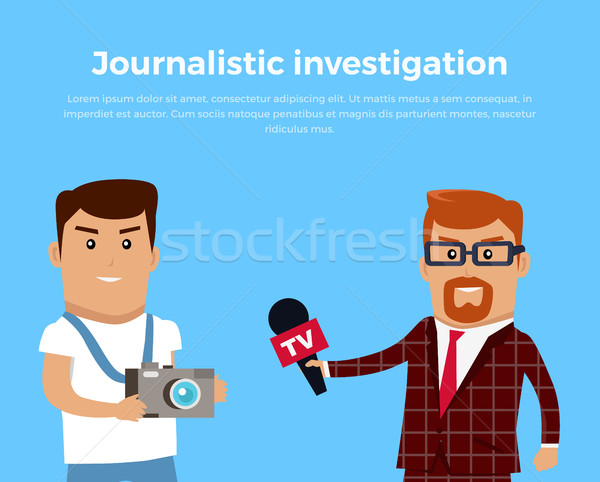 Journalistic Investigation Concept Illustration Stock photo © robuart