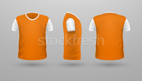 Tshirt zestaw front strona widok z tyłu wektora Zdjęcia stock © robuart