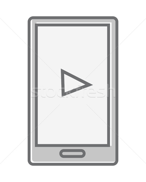 Telefone móvel isolado branco vídeo marketing produtos Foto stock © robuart