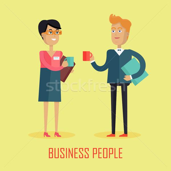 Business People Coffee Break Stock photo © robuart