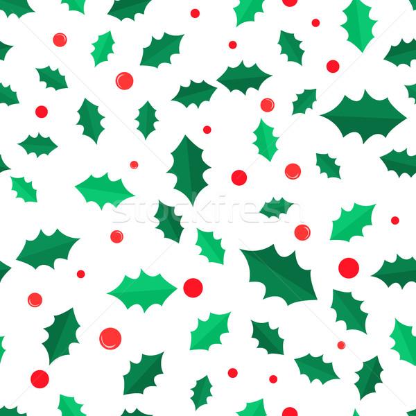 Visco árvore vermelho árvore de natal Foto stock © robuart