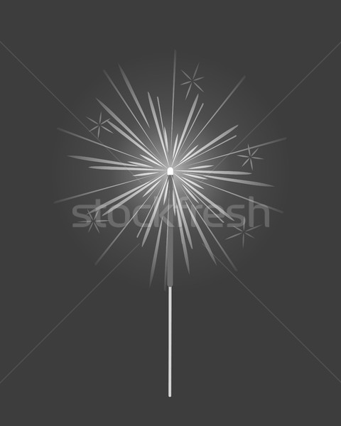 Bengal Light, Fire, Firework Sparkler Isolated Stock photo © robuart