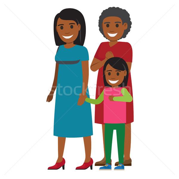 Fa generációk nők áll együtt vektor Stock fotó © robuart