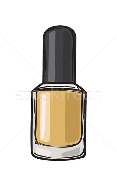 Fashioable Gold Nail Varnish Isolated Illustration Stock photo © robuart