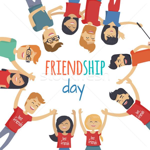 друзей дружбы день вектора мужчин Сток-фото © robuart