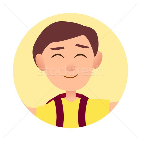 Erkek keyifli gülümseme avatar gülen Stok fotoğraf © robuart