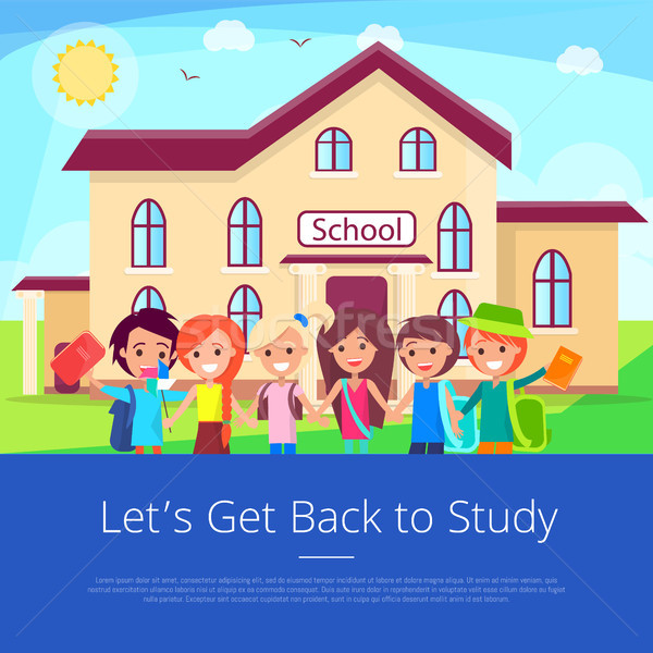 Let s Get Back to Stuty Cartoon Poster Stock photo © robuart