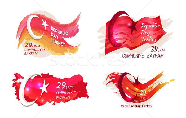 Republika dzień Turcja uroczystości zdjęcie turecki Zdjęcia stock © robuart
