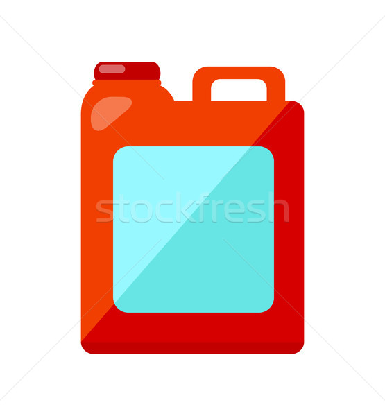 Red Jerry Can Isolated Illustration on White Stock photo © robuart