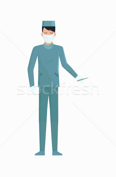 Doctor with Scalpel Icon Vector Illustration Stock photo © robuart