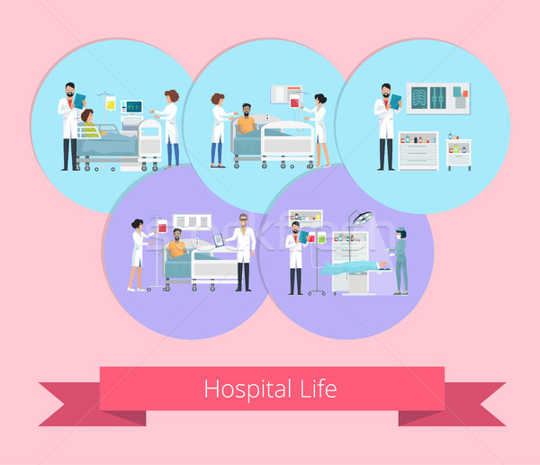 Hospital Life Visualization Vector Illustration Stock photo © robuart