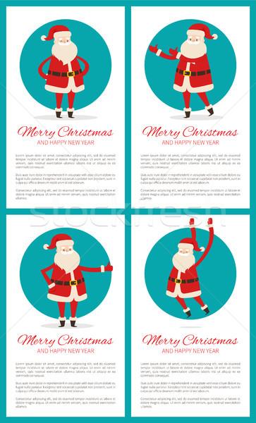 Merry Christmas Santa Set Vector Illustration Stock photo © robuart