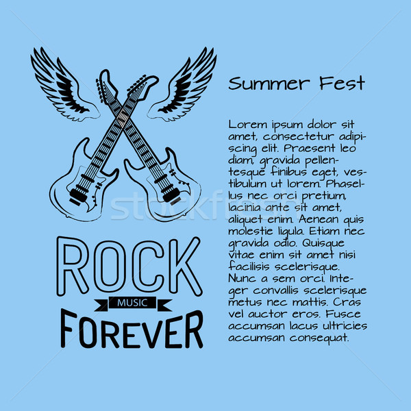 Rock Music Forever Summer Fest Vector Illustration Stock photo © robuart