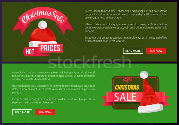 ストックフォト: クリスマス · 販売 · ウェブ · バナー · ボタン · サンタクロース