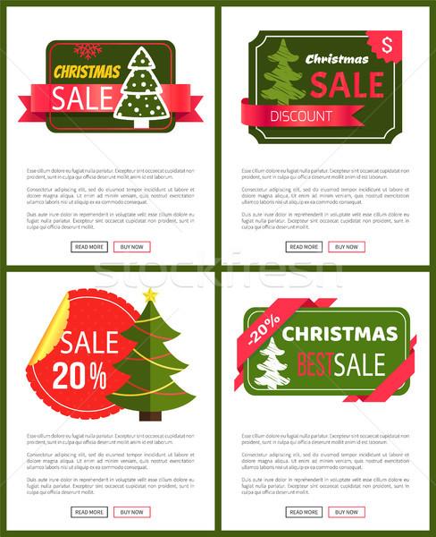 Сток-фото: лучший · Рождества · продажи · карт · вектора