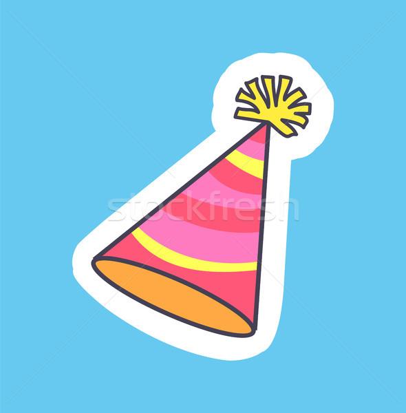 Festive Colorful Hat Banner Vector Illustration Stock photo © robuart