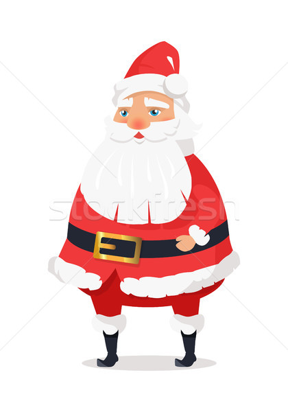Isolated Standing Santa Clause on White Background Stock photo © robuart