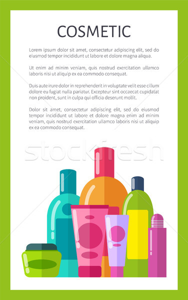 Cosmetic Poster and Text, Vector Illustration Stock photo © robuart