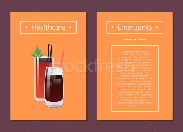 医療 緊急 カード 2 カクテル ストックフォト © robuart