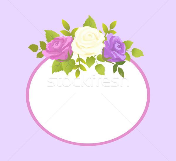Stockfoto: Decoratief · frame · foto · tekst · lentebloem · voorjaar