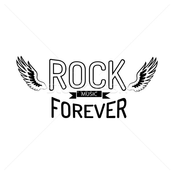 Rock Music Forever Vector Illustration on White Stock photo © robuart