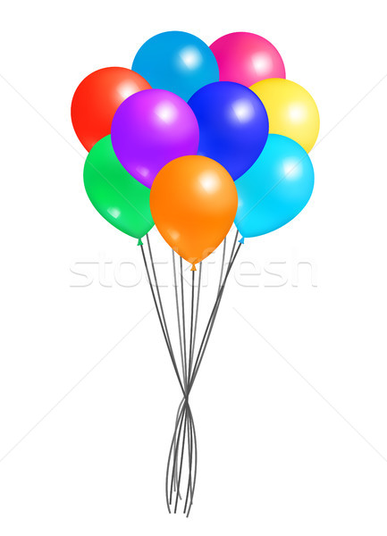 Creative Air Balloon in Bundle Realistic Design Stock photo © robuart
